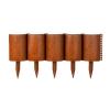 Ограждение Садовый конструктор 150 мм, 3 м коричневое