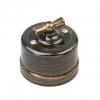 Выключатель поворотный 2-кл. ОП Лизетта 10А IP20 ретро 4 полож. ABS-пластик бронз. Bironi B1-202-25