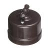 Выключатель проходной поворотный 1-кл. ОП Лизетта 10А IP20 ретро 4 полож. ABS-пластик корич. Bironi B1-201-22