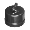 Выключатель поворотный 2-кл. ОП Лизетта 10А IP20 ретро 4 полож. ABS-пластик черн. Bironi B1-202-23