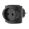 Разветвитель электрический (тройник) REXANT, 6А черный