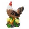 Фигура садовая Курица с цыплятами большая 42 см