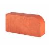 Кирпич керамический лицевой полнотелый М500 круглый красный Lode Janka
