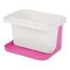 Подставка для моющих средств бело-розовая Альтернатива м595