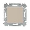 Выключатель 1-кл. СП Levit IP20 с подсветкой кофе макиато/бел. ABB 2CHH590146A6018