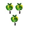 Крючки Яблочки пластиково-металлические клейккие (блистер 3шт) МУЛЬТИДОМ  27.149