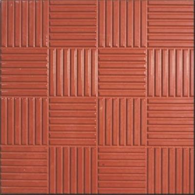 Плитка тротуарная Паркет 30х300х300 мм красная