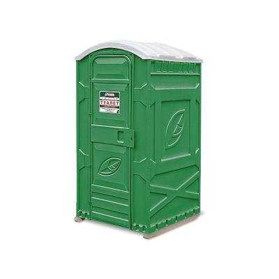 Кабина туалетная EcoLight Дачник (панель шагрень, цвет зеленый)