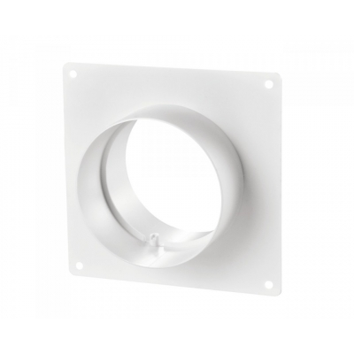 Соединитель для круглых каналов без клапана с пластиной 353 (150мм)Р