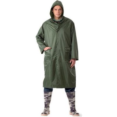 Дождевик-плащ нейлоновый зеленый XXL (в сумке)