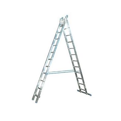 Лестница 2-х секционная Алюмет (2х12 ступеней)