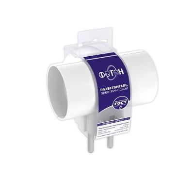 Разветвитель электрический (тройник) ФОТОН АМ 6-3T, Т-образный 6А белый
