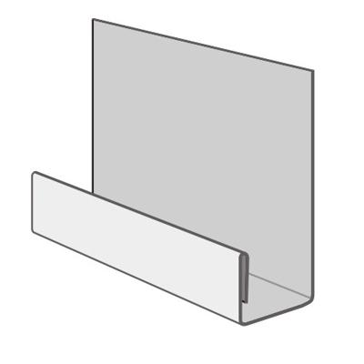 Профиль стартовый металлический Döcke 2000 мм (хром)