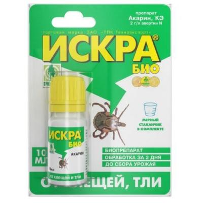 Инсектицид Искра БИО от тли, клещей флакон 10мл