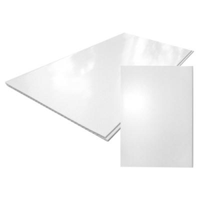 Панель ПВХ 375х2700 мм белая глянцевая