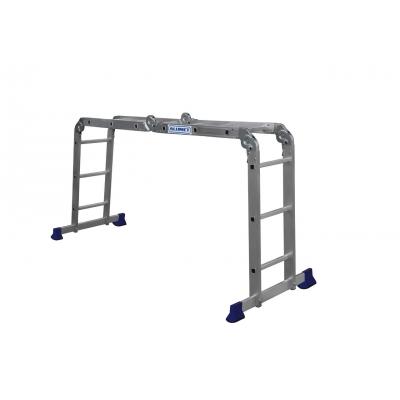 Лестница-трансформер 4-х секционная (шарнирная) Алюмет (4х3 ступени)