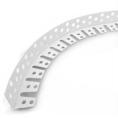 Уголок ПВХ арочный перфорированный штукатурный 25х25х3000 мм белый