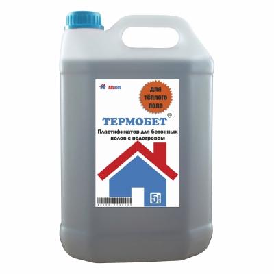 Пластификатор для бетонных полов с подогревом АЛЬФАБЕТОН ТермоБетон, 5 литров