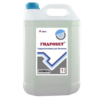 Добавка гидроизоляционная для бетона АЛЬФАБЕТОН ГидроБетон, 1 литр