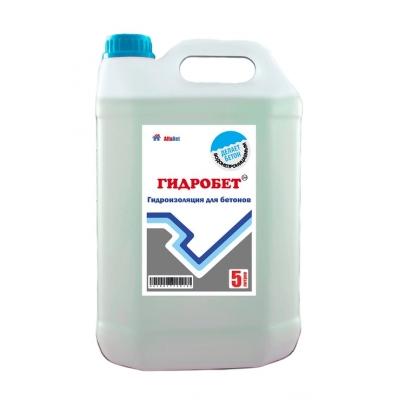 Добавка гидроизоляционная для бетона АЛЬФАБЕТОН ГидроБетон, 5 литров
