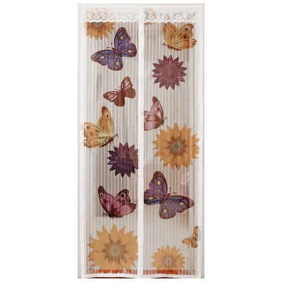 Сетка антимоскитная на магнитах (Дизайн Бабочки) белая 1 Х 2,1 М