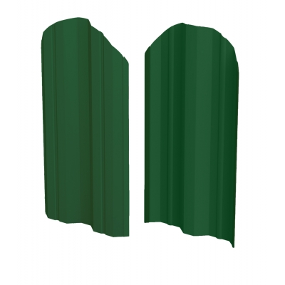 Штакетник М-образный (фигурный) 1800 мм зеленый мох (RAL 6005)