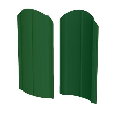 Штакетник R-образный (фигурный) 1800 мм зеленый мох (RAL 6005)