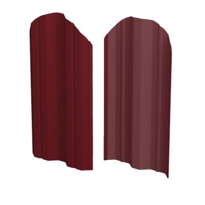 Штакетник М-образный (фигурный) 1800 мм винно-красный (RAL 3005)