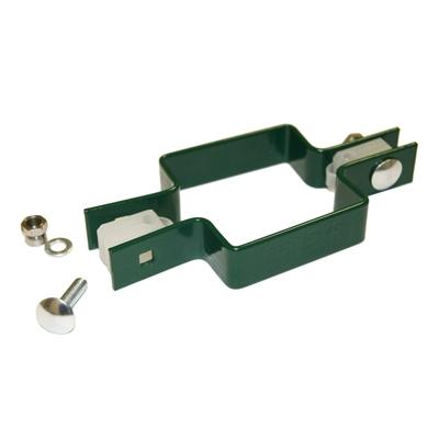 Крепление хомут двухсторонний Люкс d-50х50 мм зеленый мох (RAL 6005) (3 шт)