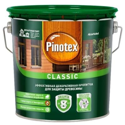 Пропитка для древесины декоративно-защитная Pinotex Classic дуб светлый (2.7 л)