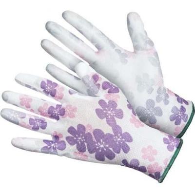 Перчатки нейлоновые с нитриловым покрытием Дачник (резинка)