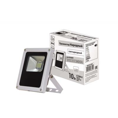 Прожектор светодиодный СДО 10-2-Н 10 Вт 6500 K IP65 серый TDM ЕLECTRIC Народный