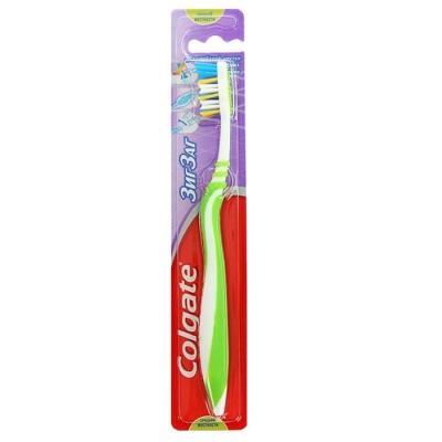 Зубная щетка Колгейт ЗИГ-ЗАГ Флекс средней жесткости
