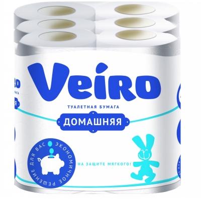 Бумага туалетная Linia Veiro ДОМАШНЯЯ Белый 2-х слойная (12шт)