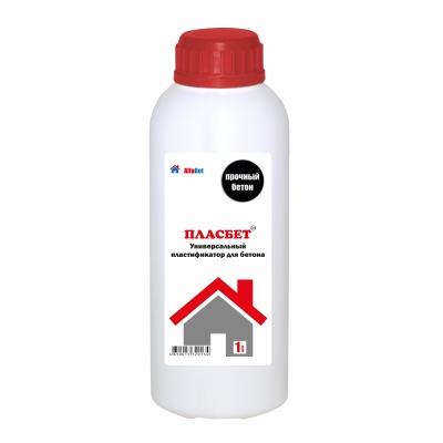 Пластификатор для бетона универсальный АЛЬФАБЕТОН ПласБетон, 1 литр