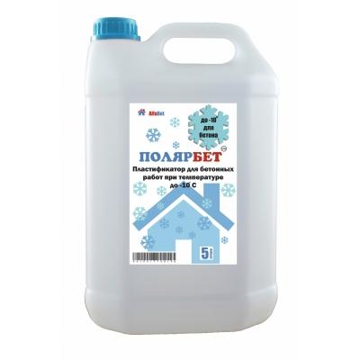 Пластификатор для бетона антиморозный АЛЬФАБЕТОН ПолярБетон, 5 литров