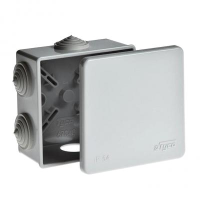 Коробка распределительная (распаячная) ОП 85х85х40 мм серая RuVinil 67040