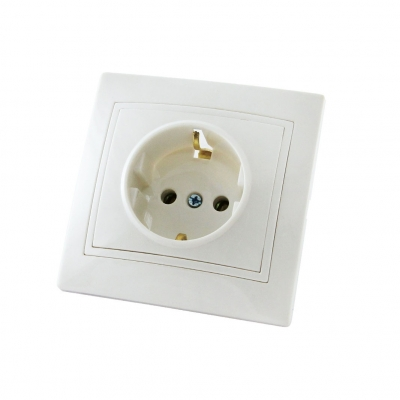 Розетка 1-м СУ белая 16 А TDM ЕLECTRIC Таймыр