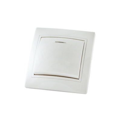 Выключатель 1-кл. белый 10 А, с подсв. TDM ЕLECTRIC Таймыр