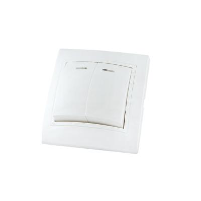 Выключатель 2-кл. белый 10 А, с подсв. TDM ЕLECTRIC Таймыр