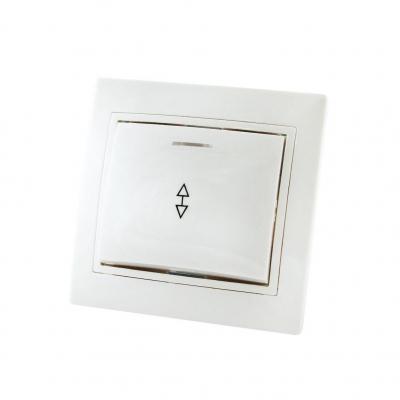 Выключатель на 2 направления 1-кл. СУ белый 10 А, с подсв. TDM ЕLECTRIC Таймыр