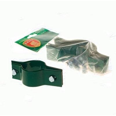 Крепление хомут двухсторонний d-51 мм зеленый мох (RAL 6005) (3 шт)