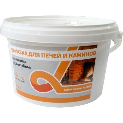 Обмазка для печей и каминов (силикатная, термостойкая) АЛЬФА 3 кг