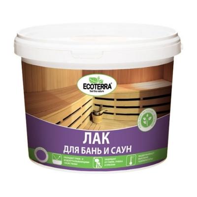 Лак для бань и саун ECOTERRA 2.5 кг