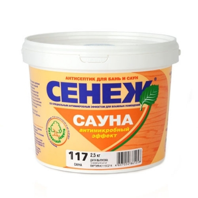 Антисептик для бань и саун Сенеж Сауна (2.5 кг)