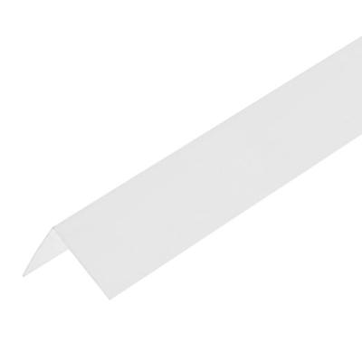 Уголок ПВХ Центурион 50х50х2700 мм белый лед