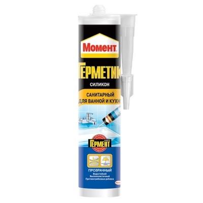 Герметик силиконовый (для ванной и кухни) Henkel  санитарный прозрачный (280 мл)