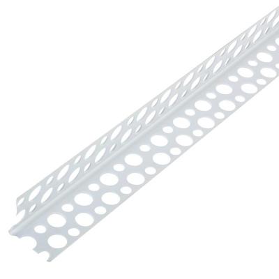 Уголок ПВХ прямой перфорированный 25х25х3000 мм белый