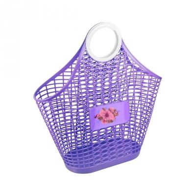 Сумка-корзина пластмассовая Хризантема фиолетовая м4621