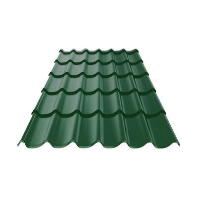 Металлочерепица 0.4х1180х2250 мм зелёный мох (RAL 6005)